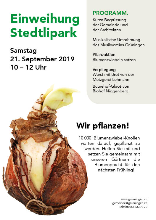 Bild: Einweihung Stedtlipark am Samstag 21. September 2019